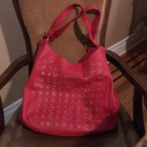 BEBE Red Leather bag